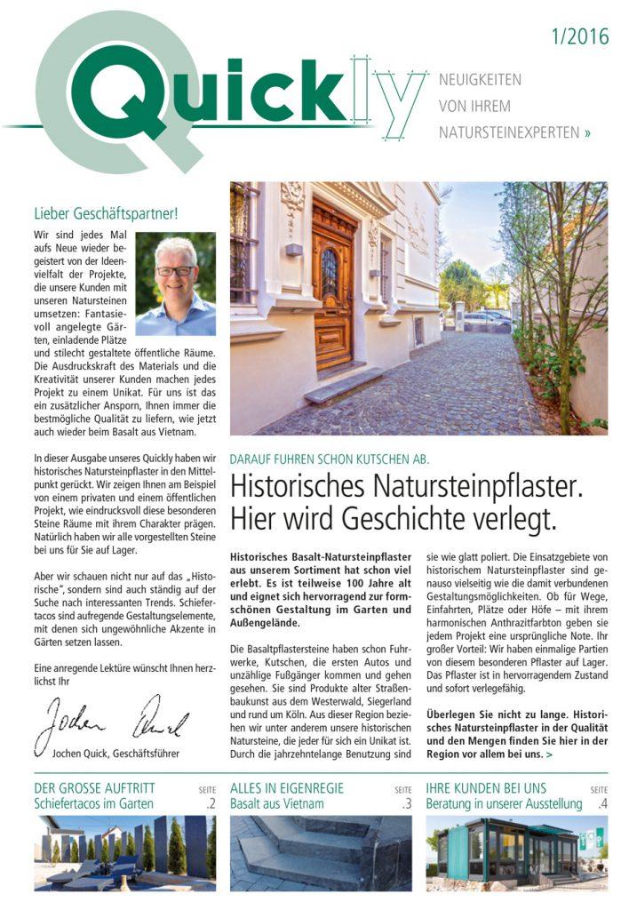 Kundenzeitschrift – Titelseite